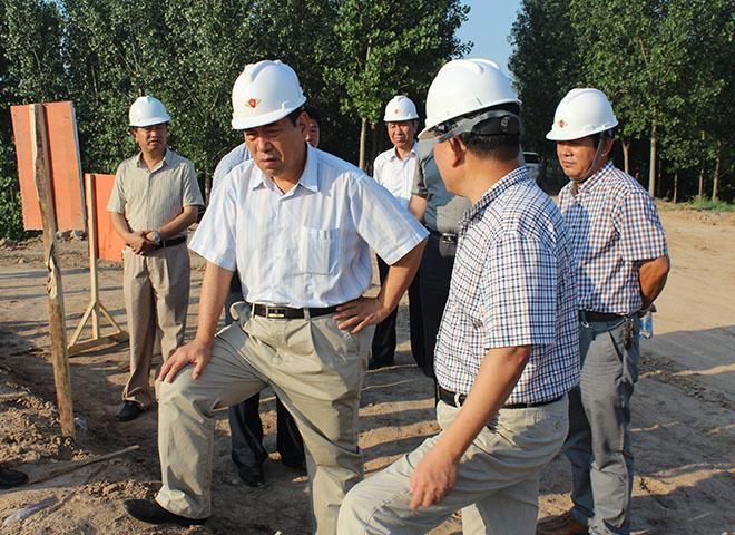 山东省水利厅梁振洋巡视员视察我公司承建的王营闸工程
